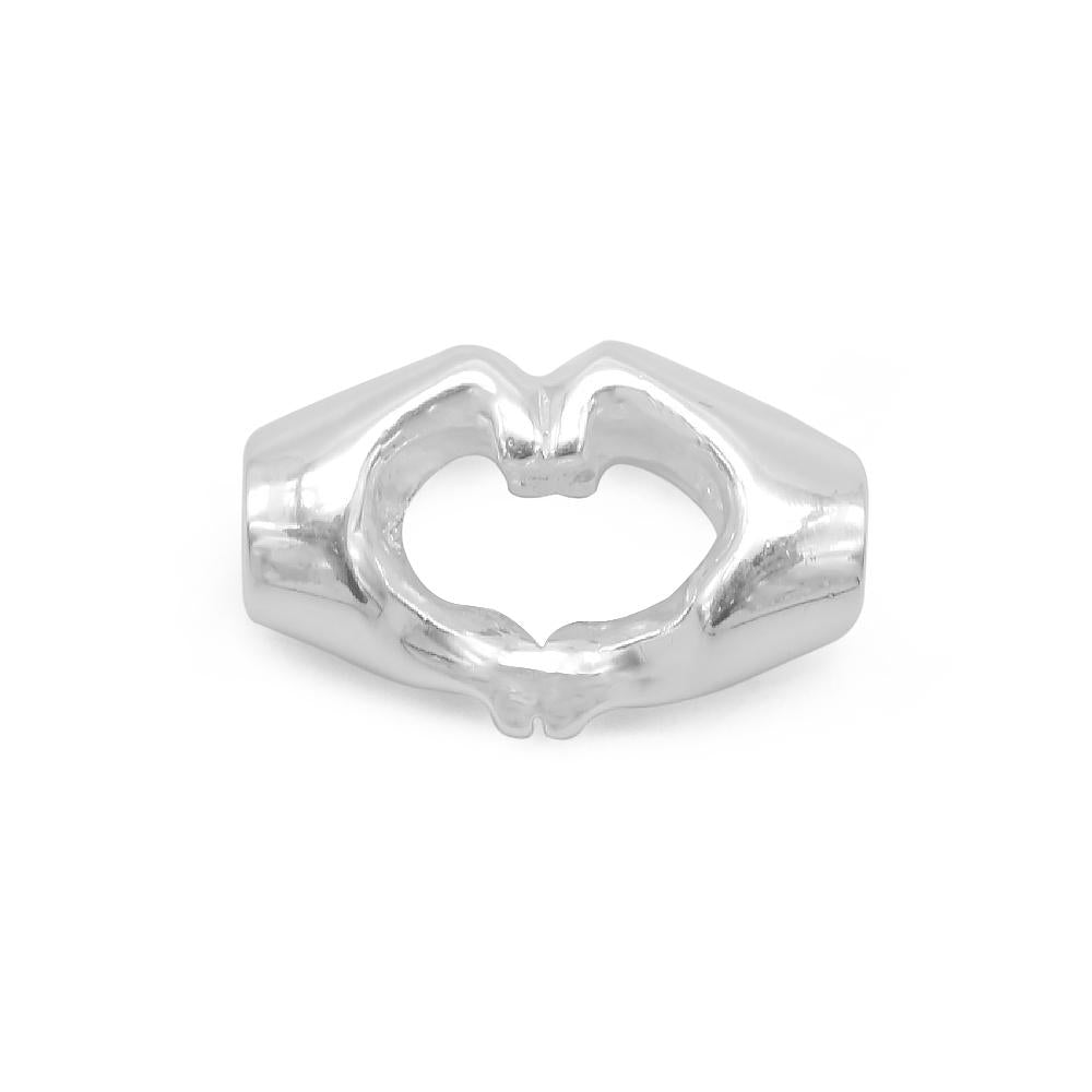 Amelia Silver Heart Pendant Hand Sign