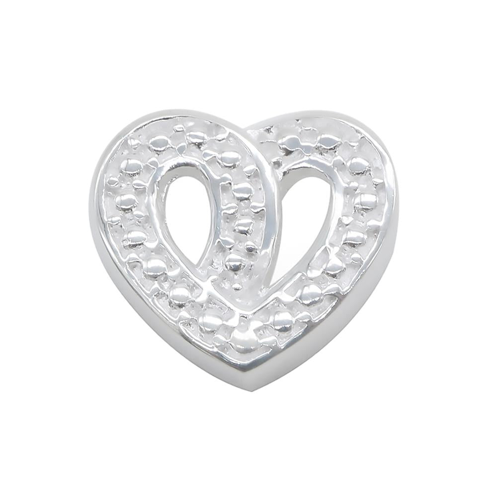 Load image into Gallery viewer, Aria Dotted Knot Silver Heart Pendant