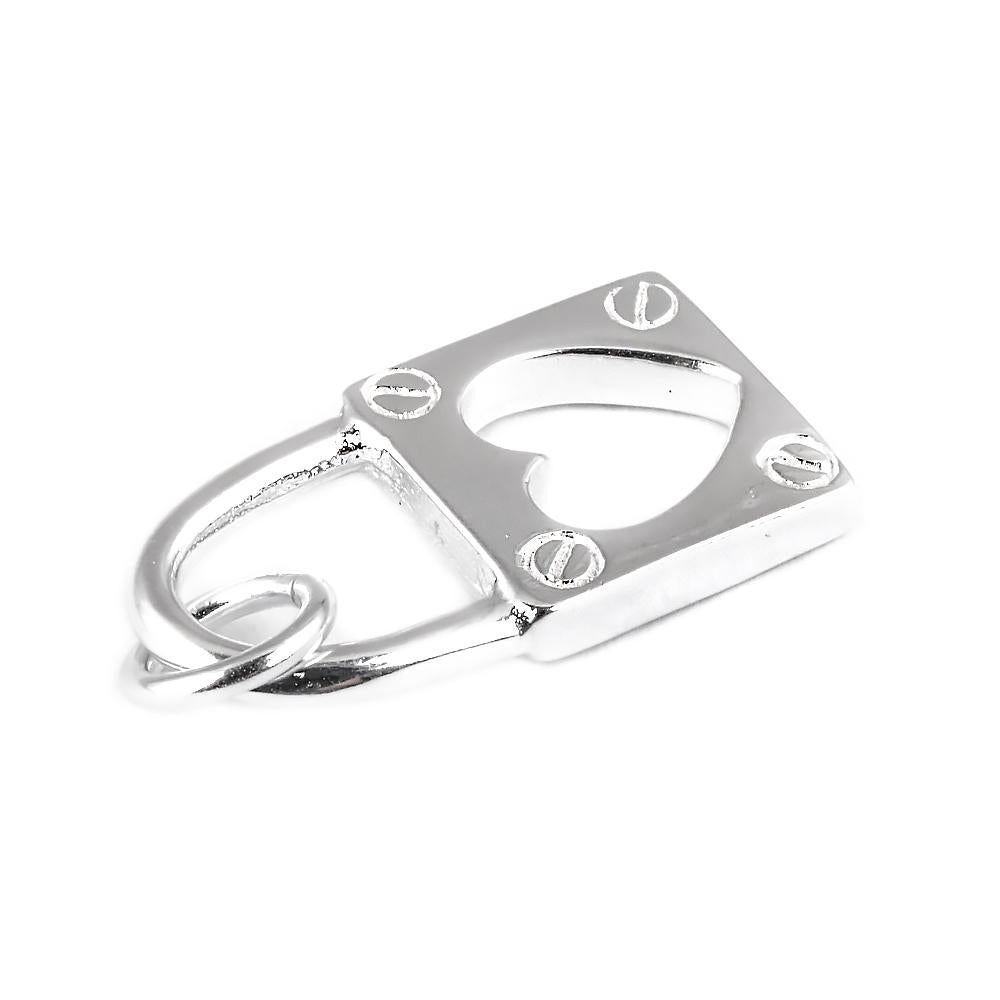Load image into Gallery viewer, Audrey Silver Heart Pendant Padlock Design