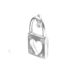 Load image into Gallery viewer, Audrey Silver Heart Pendant Padlock Design 2