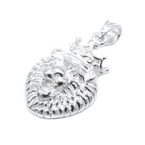 Load image into Gallery viewer, Agnes Crowned Lion Silver Charm