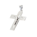 Akiko Christ's Sculpture on Open Cross Silver Charm
