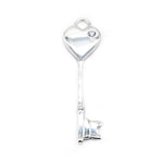 Alessia Heart in a Key Silver Pendant