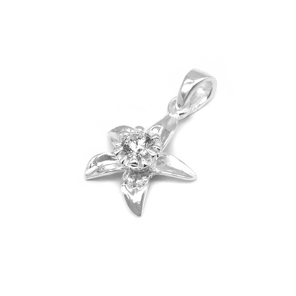 Alea Silver Flower Charm with Cubic Zirconia 2