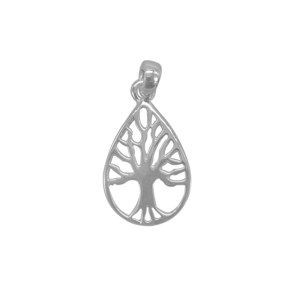Alecia Silver Tree of Life on Teardrop Charm