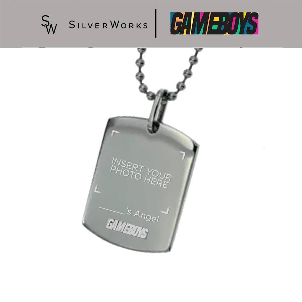 "Gameboys Collection ""[name]'s Angel"" Customized Dogtag"