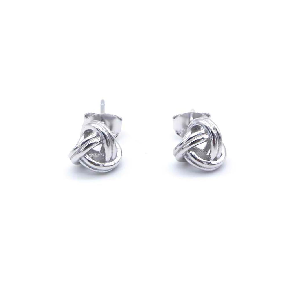 Mollie Silver Knot Stud Earrings