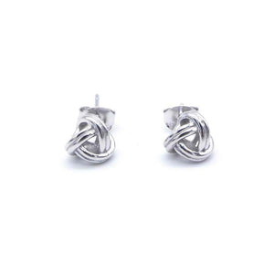 Load image into Gallery viewer, Mollie Silver Knot Stud Earrings