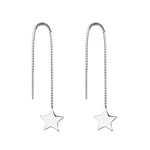 Noella Star Silver Threader Earrings Women
