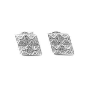 Load image into Gallery viewer, Mariella Multi-Diamond Shaped Design MORGAN Silver Stud Earrings