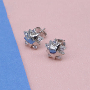 Load image into Gallery viewer, Madelene Star Shaped Silver Stud Earrings
