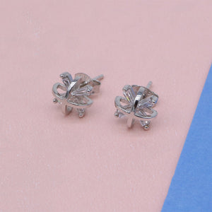 Load image into Gallery viewer, Madelon Askterisk Design Silver Stud Earrings