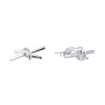 Madeira Knot Silver Stud Earrings