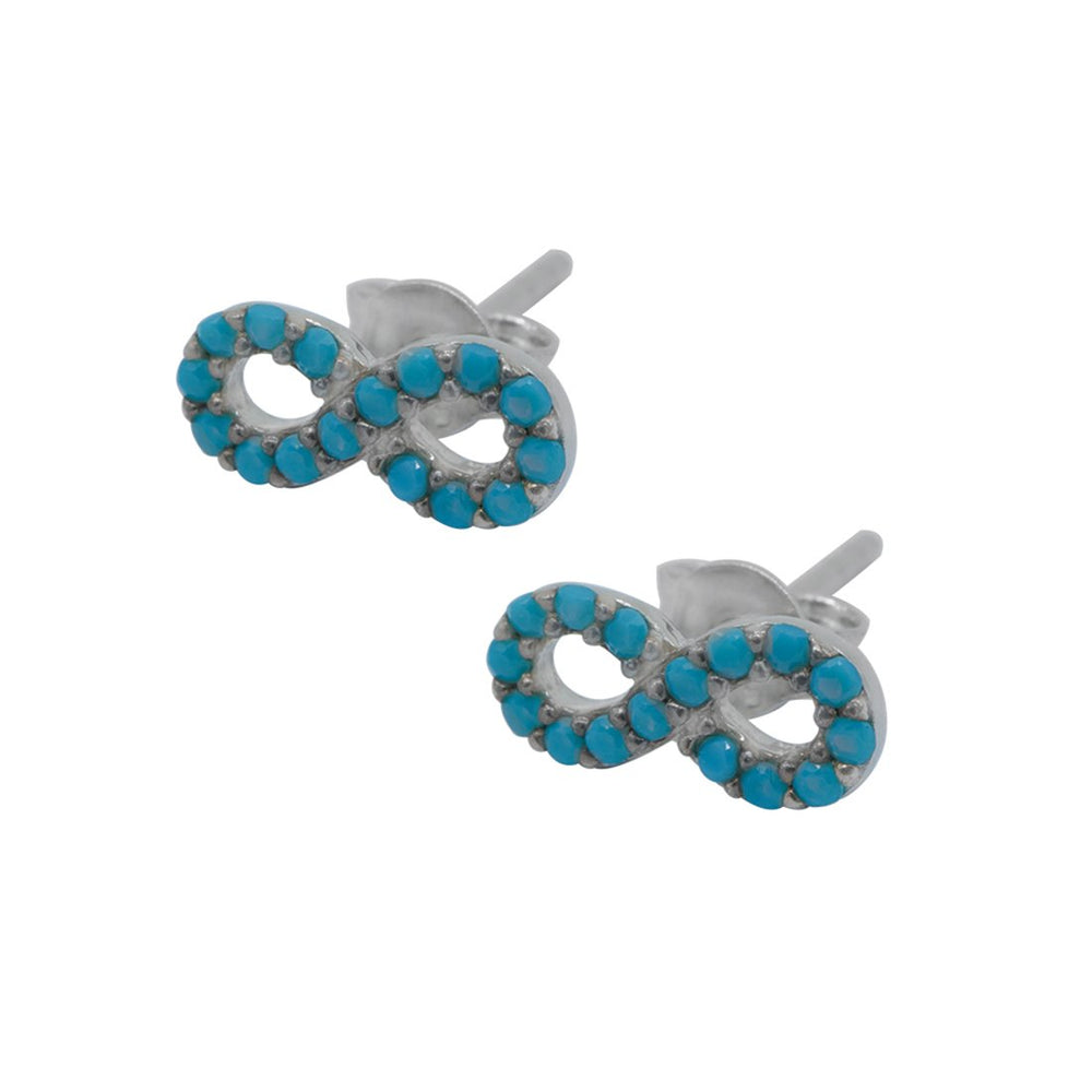Marien Infinity Turquoise Stud Earrings