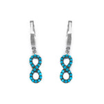 Margaux Infinity Turquoise Silver Dangling Earrings