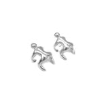 Maura Climbing Man Silver Cuff Earrings