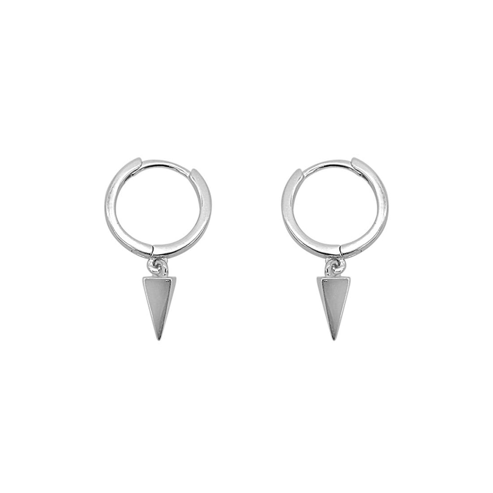 Nitzanah Drop Spike Silver Huggies Earrings