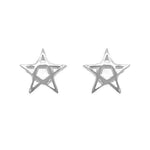 Nicola Star Silver Stud Earrings with Cubic Zirconia