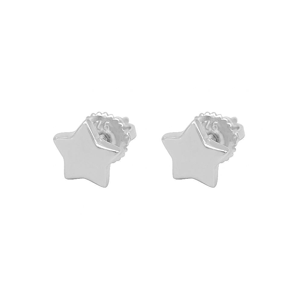 Load image into Gallery viewer, Mara Star Silver Stud Earrings