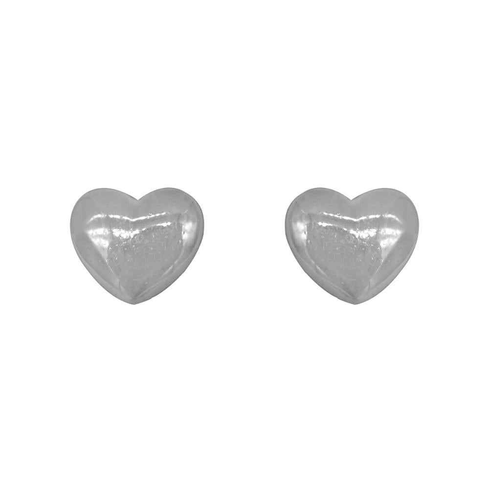 Meghan Heart Silver Stud Earrings