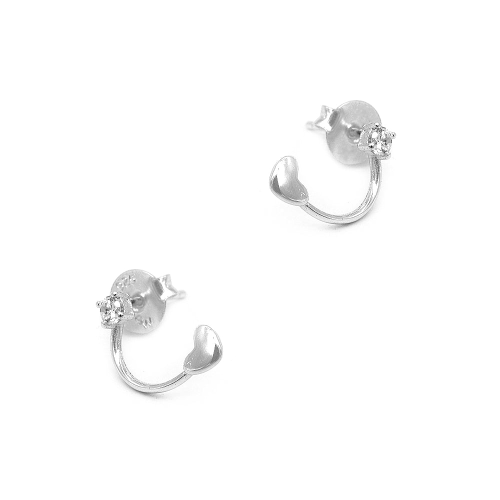 Load image into Gallery viewer, Neomenia Vine Silver Stud Earrings
