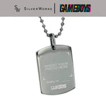 "Gameboys Collection ""Baby ni [name]"" Customized Dogtag"
