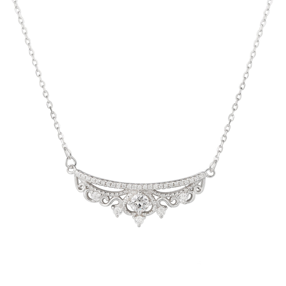 Herbie Silver Tiara Necklace with Cubic Zirconia