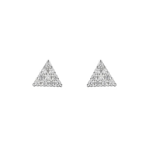 Load image into Gallery viewer, Maya Silver Triangle Stud Earrings