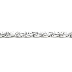 Hensley Thick Silver Rope Chain Necklace 2