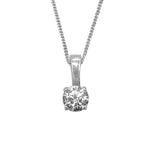 Nysa 5mm Swarovski® Zirconia with Fine Silver Curb Chain