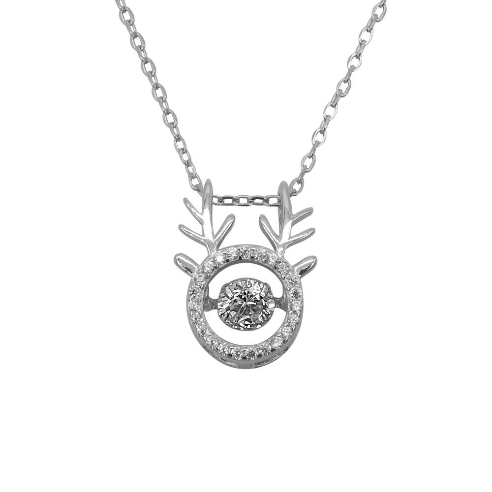 Disney® Harmoni Silver Dancing Gem Deer Necklace