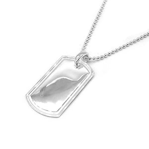 Hafsa 60cm Dog Tag Necklace with Ball Chain 1