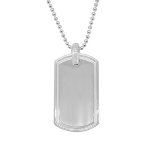 Hafsa 60cm Dog Tag Necklace with Ball Chain 2