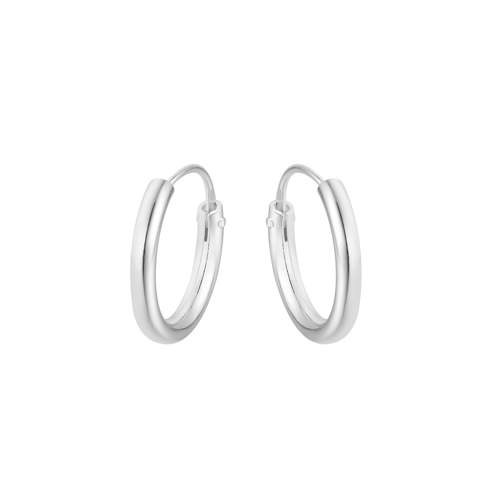 Natalia Classic Endless Silver Hoop Earrings