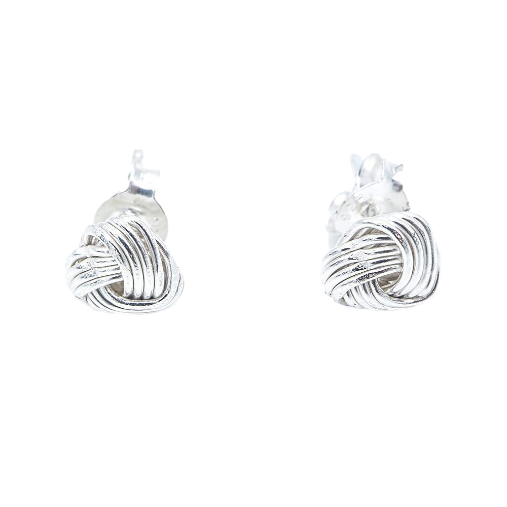 Naya Knot Silver Stud Earrings