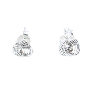 Load image into Gallery viewer, Naya Knot Silver Stud Earrings