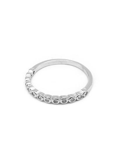 Ivy Tennis Silver Ring