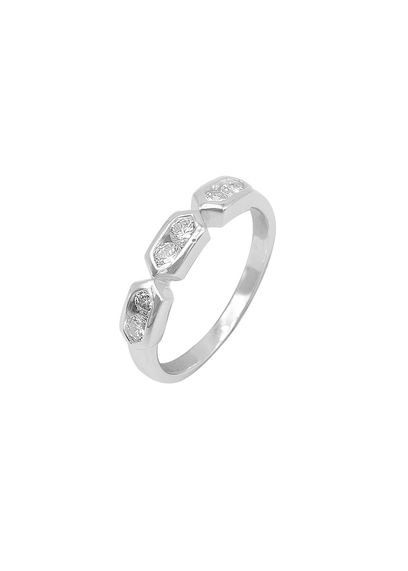 Itzel Hexagon Band Silver Ring
