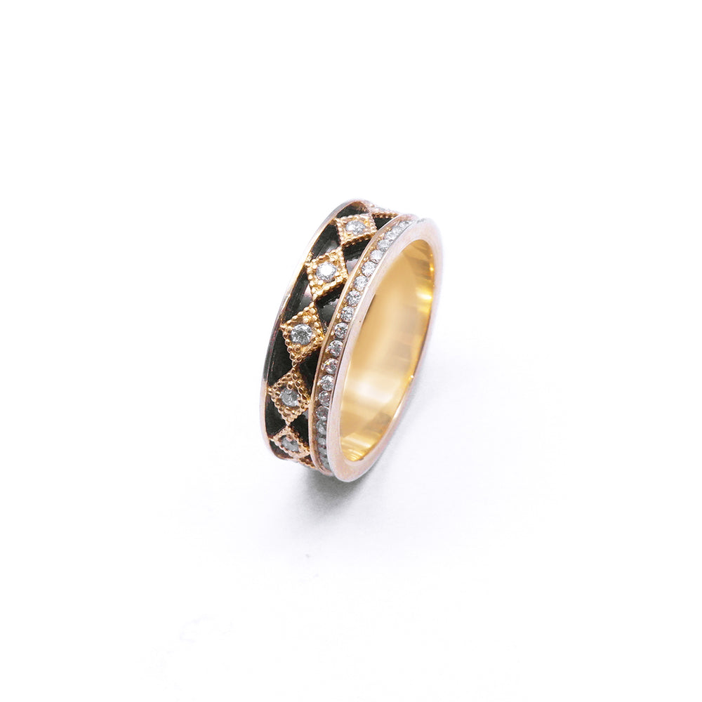 Itzy Gold Plated Diamond Cut Ring