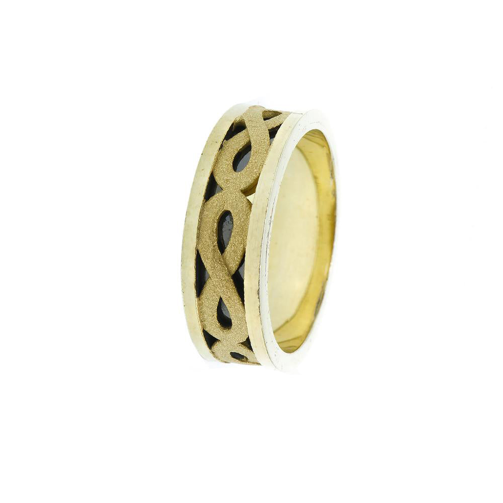 Inge Gold Plated Infinity Ring