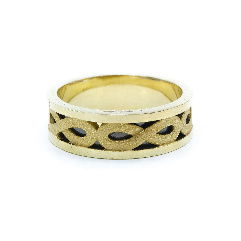 Inge Gold Plated Infinity Ring 2