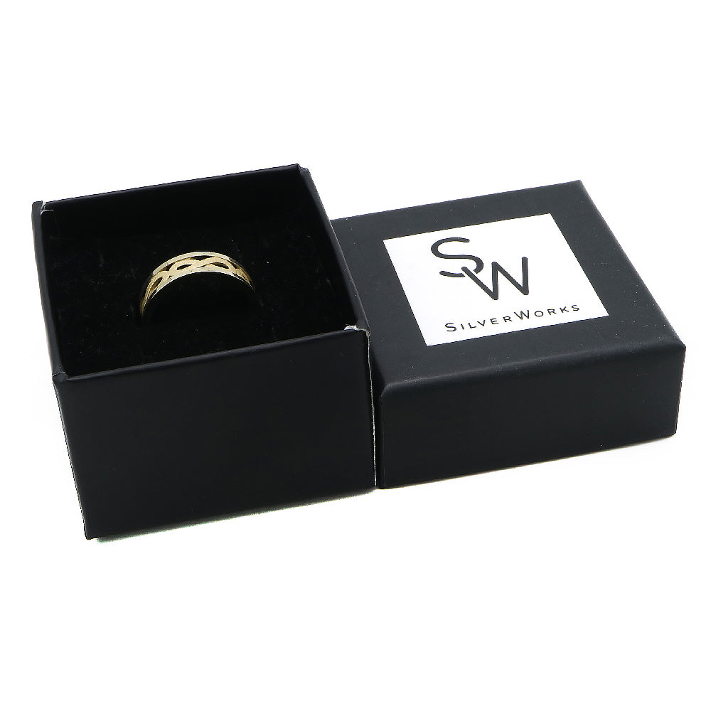 Inge Gold Plated Infinity Ring Box Packaging