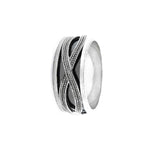 Iona Oxidized Silver Infinity Ring