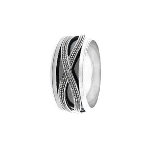 Load image into Gallery viewer, Iona Oxidized Silver Infinity Ring