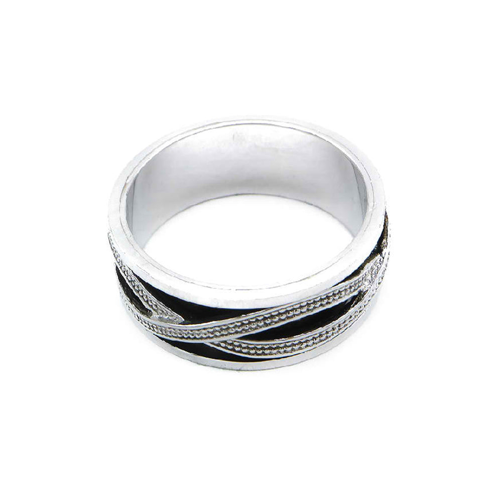 Load image into Gallery viewer, Iona Oxidized Silver Infinity Ring 2