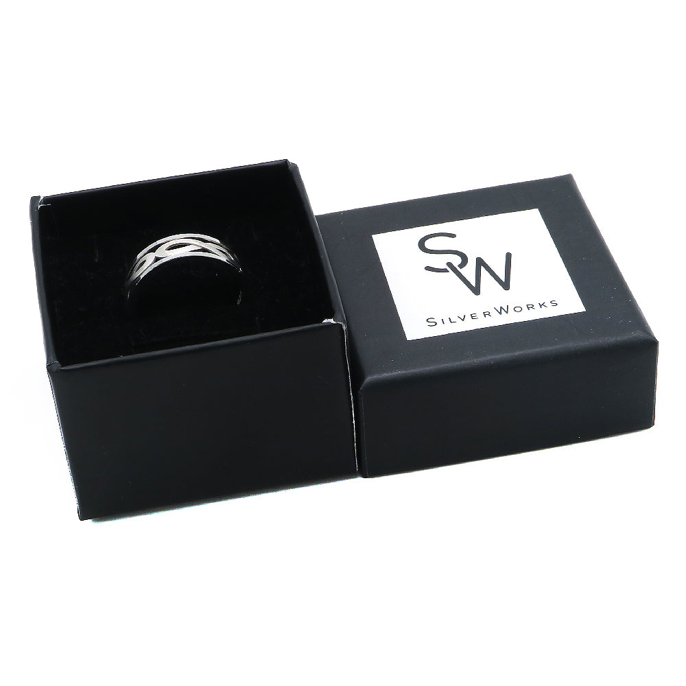 Ize Oxidized Silver Infinity Symbol Ring Box Packaging