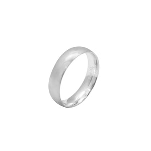 Inayah Plain Polished Silver Ring
