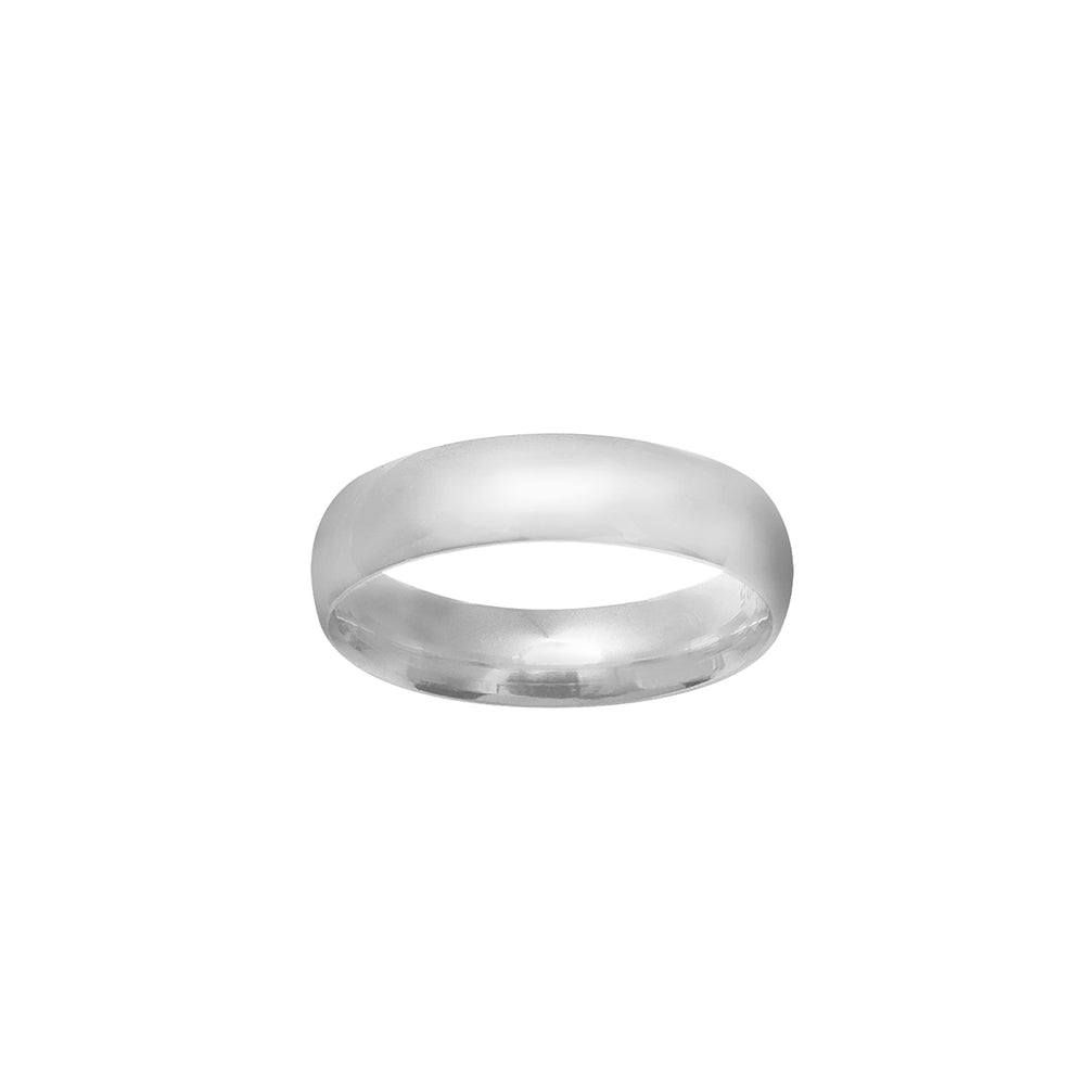 Load image into Gallery viewer, Inayah Plain Polished Silver Ring