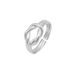 Ida Adjustable Silver Reef Knot Ring