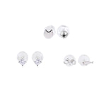 Shelly Silver Mircostud Earrings Set Mix and Match